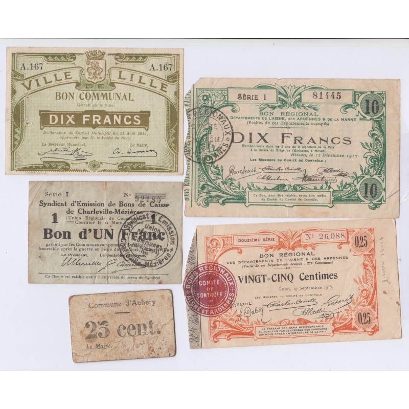 LOT 9 BILLETS FRANCE divers L'art des gents NUMISMATIQUE AVIGNON