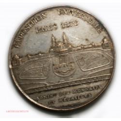 Médaille Expo Univ. Paris 1878 Palais trocadéro par Oudiné,lartdesgents.fr