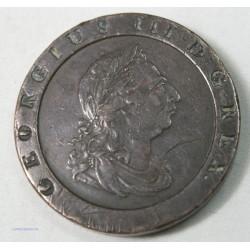 Royaume uni - 2 Pence Georgius III 1797, lartdesgents.fr