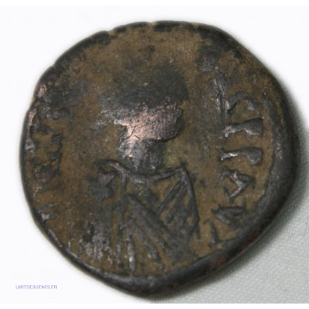 Byzantine - Follis de Justinien Ier (527-565 ap JC) Constantinople? lartdesgents.fr