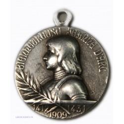 Médaille bienheureuse Jeanne d'Arc 1412-1431-1909, lartdesgents.fr