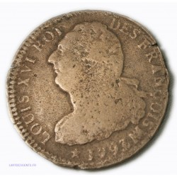 Louis XVI 2 SOLS 1793 MA Marseille An 5, lartdesgents.fr