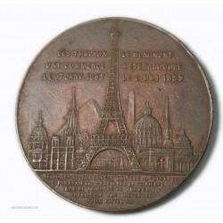 Rare Médaille attribué Souvenir de l'ascension de la Tour Eiffel 1889