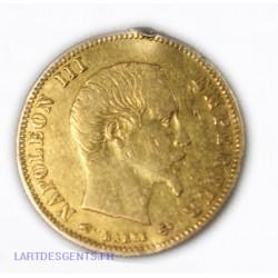Napoléon III, 5 Francs or 1857 A Paris (soudure),  lartdesgents.fr Avignon