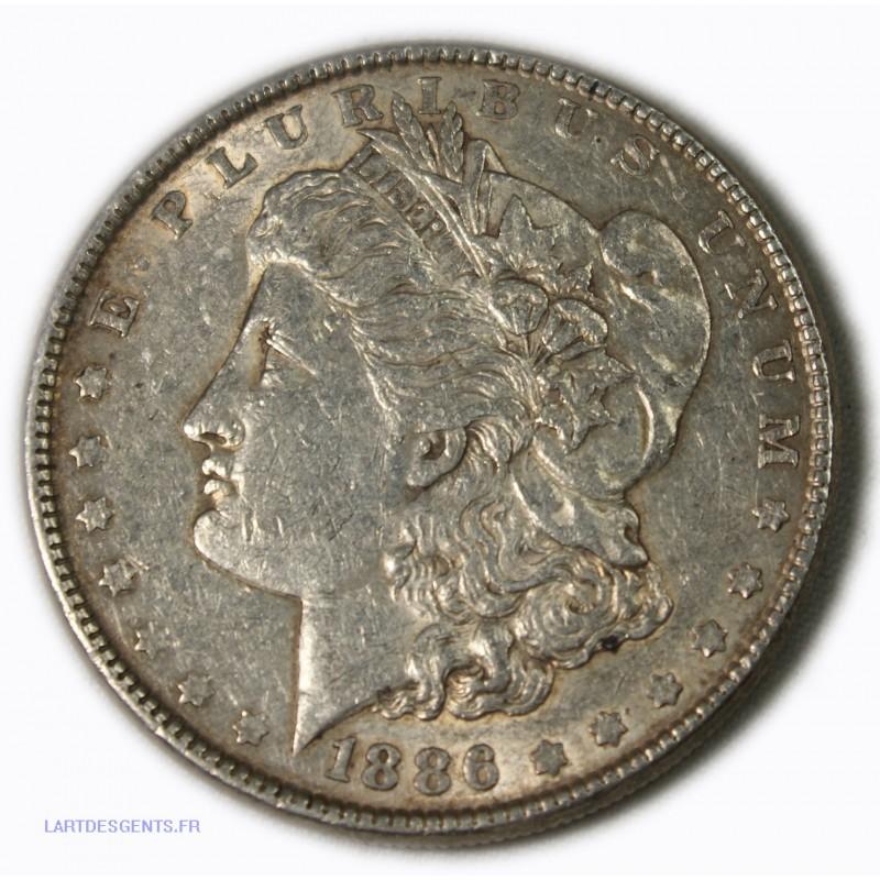 USA - Morgan $ 1 dollar 1886, lartdesgents.fr