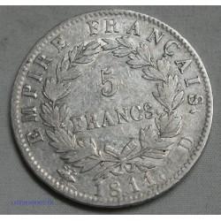 Napoléon Ier Empereur, 5 Francs 1811 D LYON, lartdesgents.fr