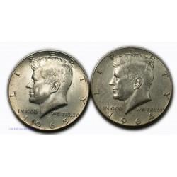 USA - Liberty   Half Dollar 1964, 1965, lartdesgents.fr