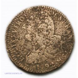 LOUIS XVI 2 SOLS 1792 N MONTPELLIER, L'ART DES GENTS AVIGNON