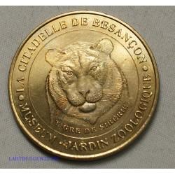 Jeton Médaille touristique La citadelle de BESANCON, tigre de Sibérie 2000