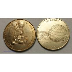 Jeton Médaille touristique La géode 1999+2003B, lartdesgents.fr