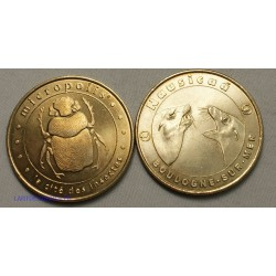 Jeton Médaille touristique Micropolis 2005B + Nausicaà 2001, lartdesgents.fr