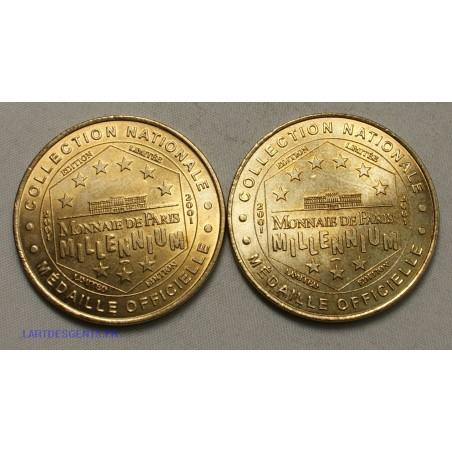 Jeton Médaille touristique, Pont du gard 2001+ ferme des crocodiles 2001, lartdesgents.fr