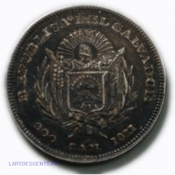 AMERIQUE CENTRAL / SALVADOR- Peso /900 C.A.M. 1911, CRISTOBAL COLON