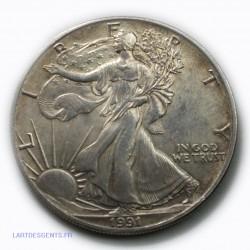 USA - Liberty $ 1 dollar 1991 1onze  , lartdesgents.fr