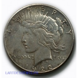 USA - Liberty $ 1 dollar 1922 S , lartdesgents.fr