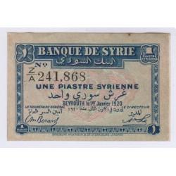 BILLET BANQUE DE SYRIE 1 JANVIER 1920 L'ART DES GENTS