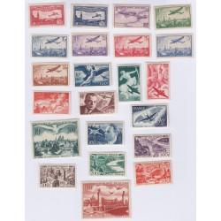 Lot Timbres France Poste Aérienne de 1930 à 1964 sauf n°14 et n°15 Neufs* Cote 760 Euros L'ART DES GENTS