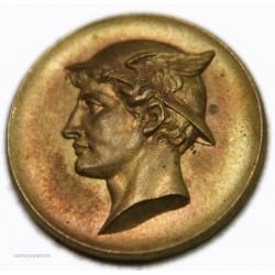 Médaille uniface tête de Mercure casquée