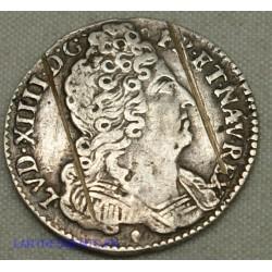 LOUIS XIV, 1/10 ÉCU aux 3 couronnes, 1715 & AIX, lartdesgents.fr