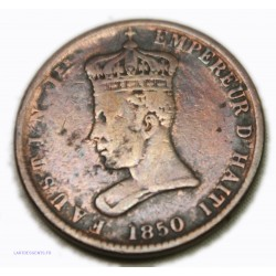Haïti - Empereur Faustin Ier - 6 1/4 CENTIMES 1850, lartdesgents.fr