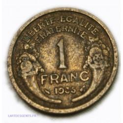 France - 1 Franc 1935 morlon, lartdesgents.fr Avignon