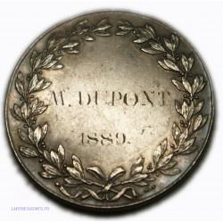 Médaille Argent Brevet élémentaire 1889, 15.60grs