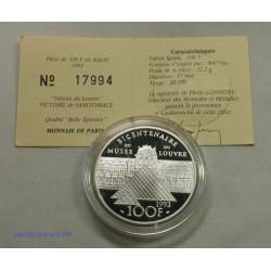 Trésors du Louvre - 100 Francs 1993 BE Victoire de SAMOTHRACE