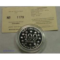 Monuments et site d'Europe - 100 Francs 1995 ALHAMBRA