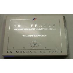 Coffret BU 100 Francs 1987 LA FAYETTE, lartdesgents.fr