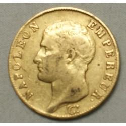 NAPOLEON Ier - 40 Francs or 1806 U TURIN TTB+, lartdesgents.fr
