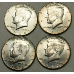 USA - Liberty  5 x Half Dollar 1968 , lartdesgents.fr