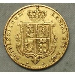 demi Souverain, half Sovereign VICTORIA 1845, lartdesgents.fr