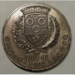 Médaille argent VILLE DE CHALON SUR SAONE 155grs par A.DE G.SCULP.