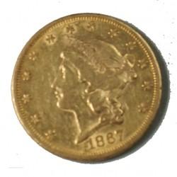 USA 20$ DOLLARS 1867 DOUBLE EAGLES, lartdesgents.fr