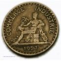 Rare, Chambre Commerce 2 Francs 1927 bronze alu, lartdesgents.fr
