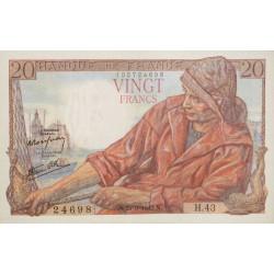 20 Francs Pêcheur 21-09-1942 SPL L'ART DES GENTS