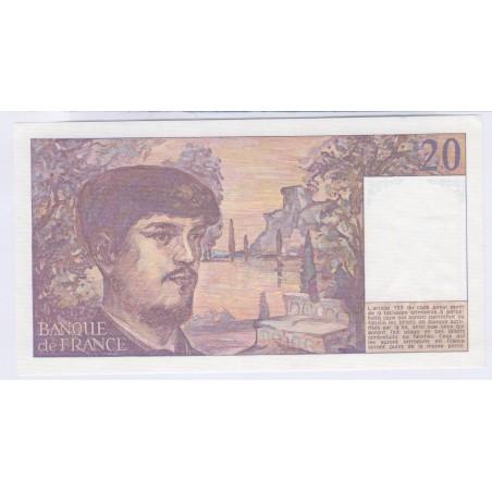 Billet 20 Francs Debussy 1980 D.004 NEUF L'ART DES GENTS Numismatique Avignon