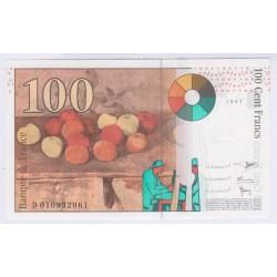 Billet 100 Francs Cézanne 1997 Neuf L'ART DES GENTS Numismatique Avignon