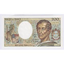 Billet 200 Francs Montesquieu 1983 Neuf L'ART DES GENTS Numismatique Avignon