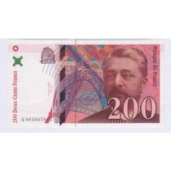 Billet 200 Francs Eiffel 1995 Neuf L'ART DES GENTS Numismatique Avignon