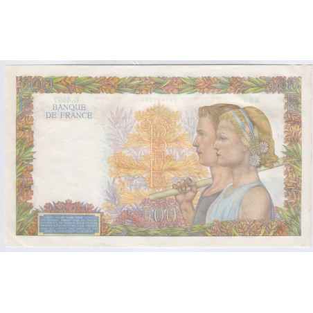 Billet 500 Francs La Paix 12-02-1942 sup+  L'ART DES GENTS Numismatique Avignon