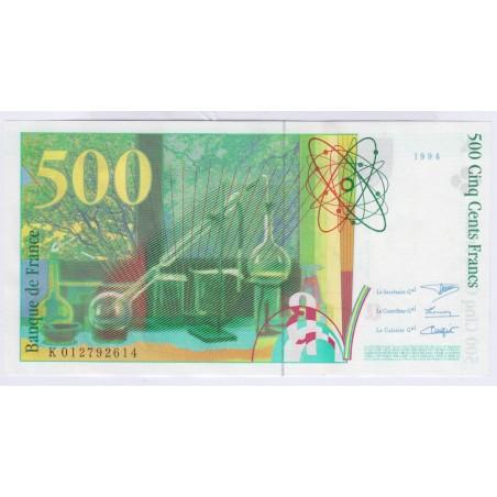 Billet 500 Francs Pierre et Marie Curie 1994 Neuf L'ART DES GENTS Numismatique Avignon
