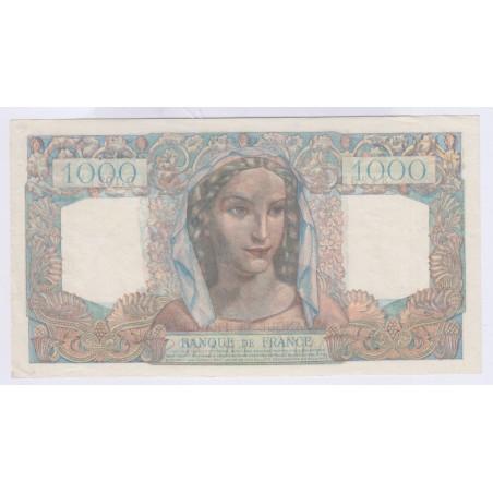 Billet 1000 Francs Minerve et Hercule 23-08-1945 SUP+ L'ART DES GENTS Numismatique Avignon