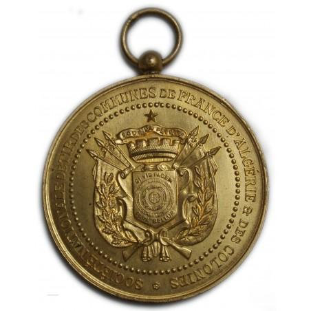 Médaille Bronze doré - Tir de France Algérie et colonies superbe
