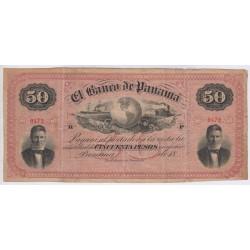 Banco de Panama - 50 Pesos COLOMBIE 1869 PS.725
