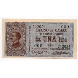 ITALIE 1 LIRE 1914 Crap 3 bs3