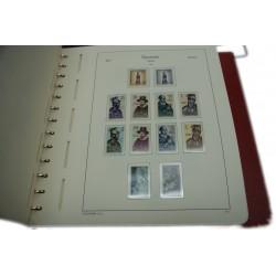 Lot de 2 albums Leuchtturm + Feuilles ESPAGNE de 1950 à 1998 + timbres neuf* à voir