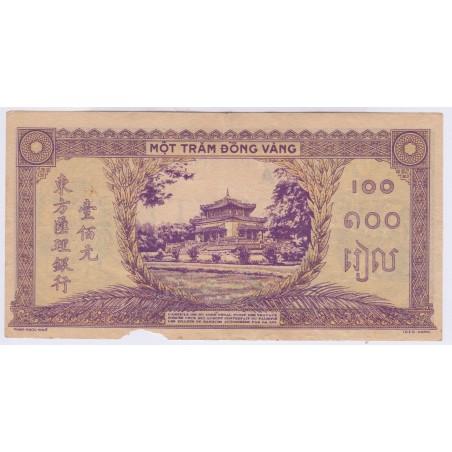 Indochine 100 piastres 1942