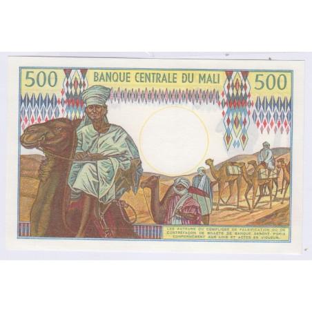 billet du Mali 500 Francs L'ART DES GENTS