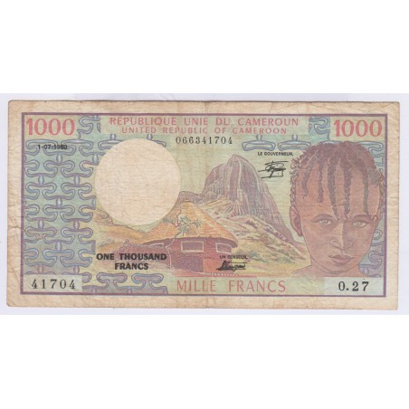 1000 Francs Cameroun